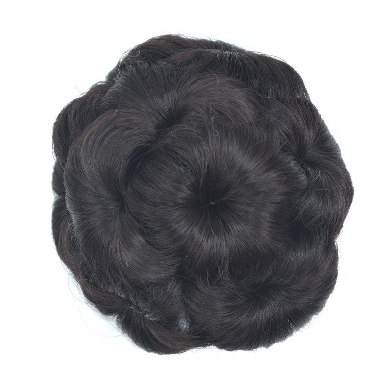 Top Quality Westerners Chignon Big Hair Bun Hair New Style Women Curly Combs Clip In Hair Bun Chignon Updo Cover Hair - BLACK BROWN