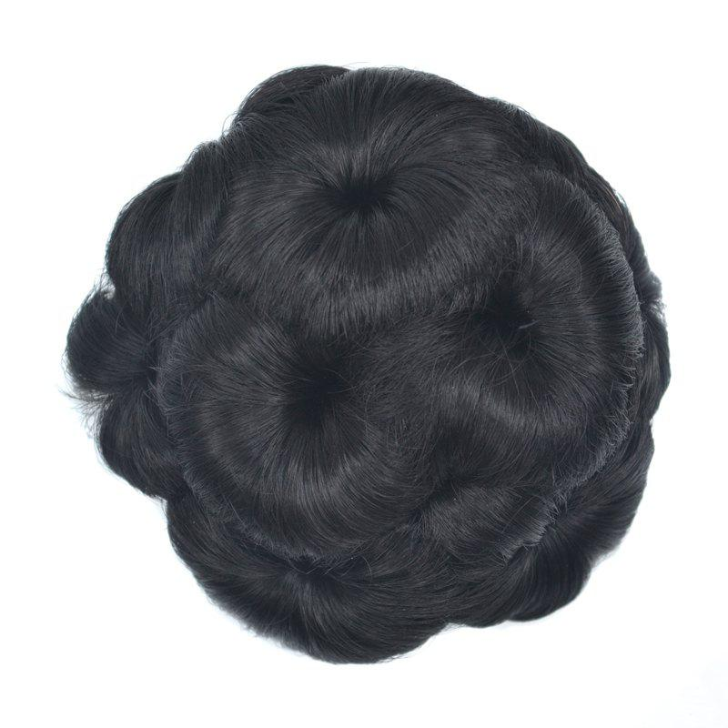 Top Quality Westerners Chignon Big Hair Bun Hair New Style Women Curly Combs Clip In Hair Bun Chignon Updo Cover Hair - BLACK