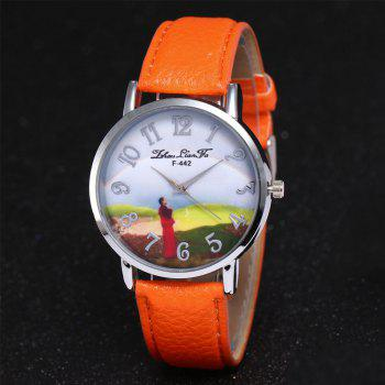 ZhouLianFa New Outdoor High-End Silver Dial Lychee Monk Quartz Watch -  ORANGE