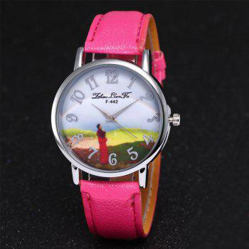 ZhouLianFa New Outdoor High-End Silver Dial Lychee Monk Quartz Watch -  ROSE RED