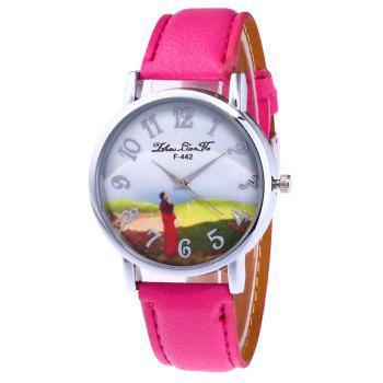 ZhouLianFa New Outdoor High-End Silver Dial Lychee Monk Quartz Watch - ROSE RED ROSE RED