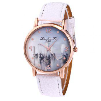 ZhouLianFa New Outdoor High-End Rose Gold Dial Lychee Pattern High-Rise Quartz Watch - WHITE WHITE