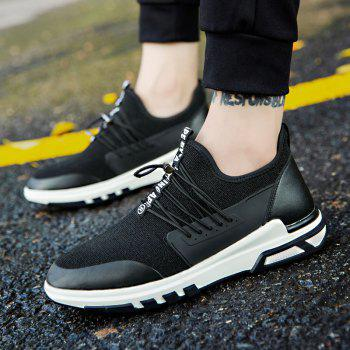 New Men'S Fashion Personality Sports Shoes - BLACK WHITE 41