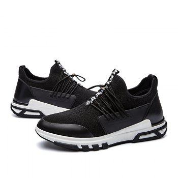 New Men'S Fashion Personality Sports Shoes - BLACK WHITE 40