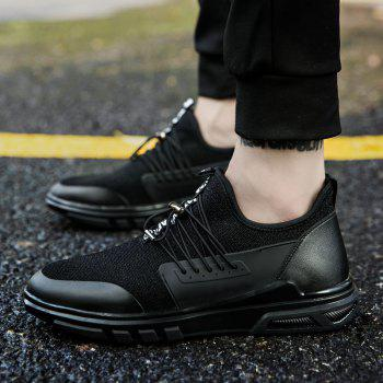 New Men'S Fashion Personality Sports Shoes - BLACK 39