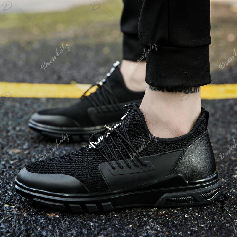 New Men'S Fashion Personality Sports Shoes - BLACK 44