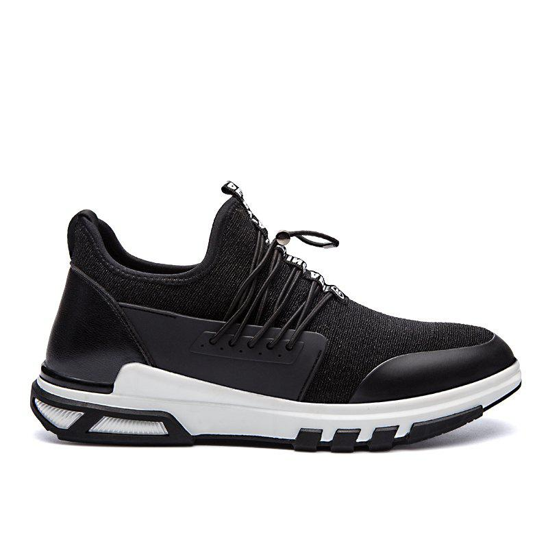 New Men'S Fashion Personality Sports Shoes - BLACK WHITE 39