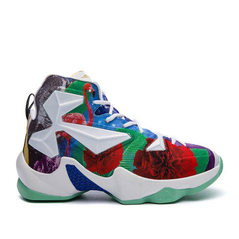 New Fashion Basketball Shoes - WHITE / GREEN 42