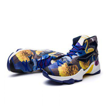 New Fashion Basketball Shoes - BLUE YELLOW 45