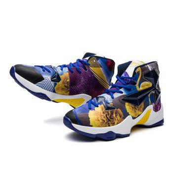 New Fashion Basketball Shoes - BLUE YELLOW 43