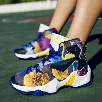 New Fashion Basketball Shoes - BLUE YELLOW 41