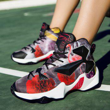 New Fashion Basketball Shoes - BLACK/RED 43