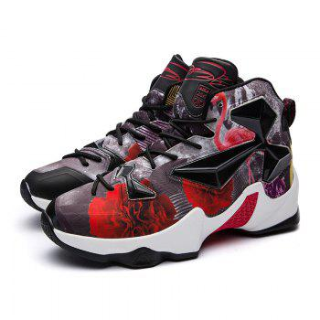 New Fashion Basketball Shoes - BLACK/RED BLACK/RED