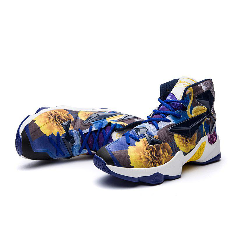 New Fashion Basketball Shoes - BLUE YELLOW 44