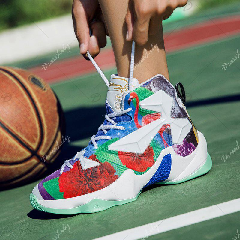 New Fashion Basketball Shoes - WHITE / GREEN 39