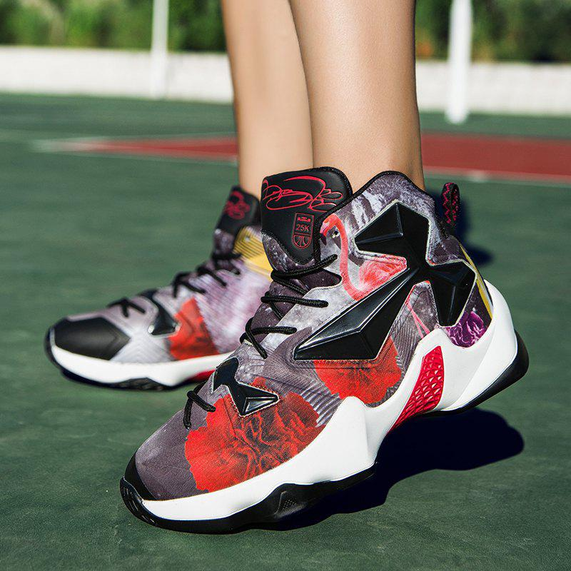 New Fashion Basketball Shoes - BLACK/RED 44