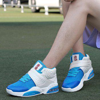 New Fashion Breathable Sports Running Shoes - BLUE WHITE 44