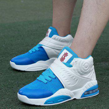 New Fashion Breathable Sports Running Shoes - BLUE WHITE 42
