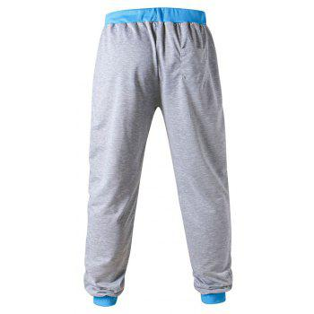 3 D Printing Design Elastic Waist Leisure Bigger Sizes Male Trousers - GRAY/BLUE GRAY/BLUE