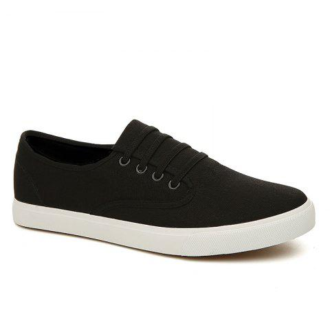 Men's Sneakers Casual Solid Color All Match Classic Canvas Shoes Sports Shoes - BLACK 42