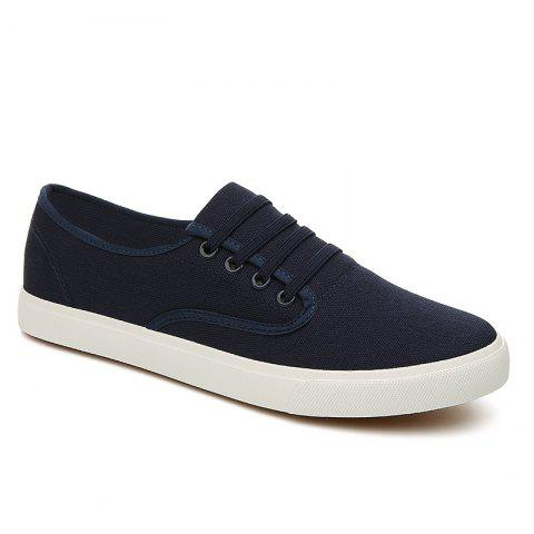 Men's Sneakers Casual Solid Color All Match Classic Canvas Shoes Sports Shoes - BLUE 44