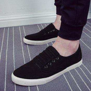 Men's Sneakers Casual Solid Color All Match Classic Canvas Shoes Sports Shoes - BLACK 40