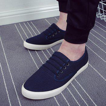 Men's Sneakers Casual Solid Color All Match Classic Canvas Shoes Sports Shoes - BLUE 43