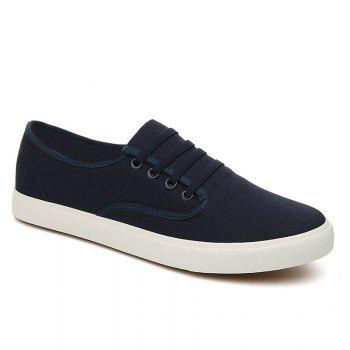 Men's Sneakers Casual Solid Color All Match Classic Canvas Shoes Sports Shoes - BLUE BLUE