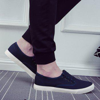 Men's Sneakers Casual Solid Color All Match Classic Canvas Shoes Sports Shoes - BLUE 41