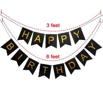 60TH Birthday Party Decorations Kit Happy Birthday Banner Gold Number Balloons Perfect 60 Years Old Party Supplies - GOLD / BLACK 23PCS