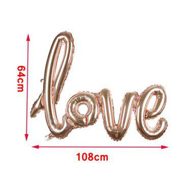 Love Balloon Banner Celebration Balloon Hanging for Wedding Party Decoration - RED L