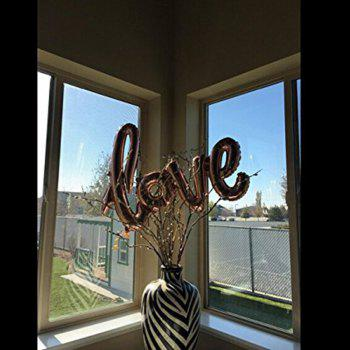 Love Balloon Banner Celebration Balloon Hanging for Wedding Party Decoration - RED M