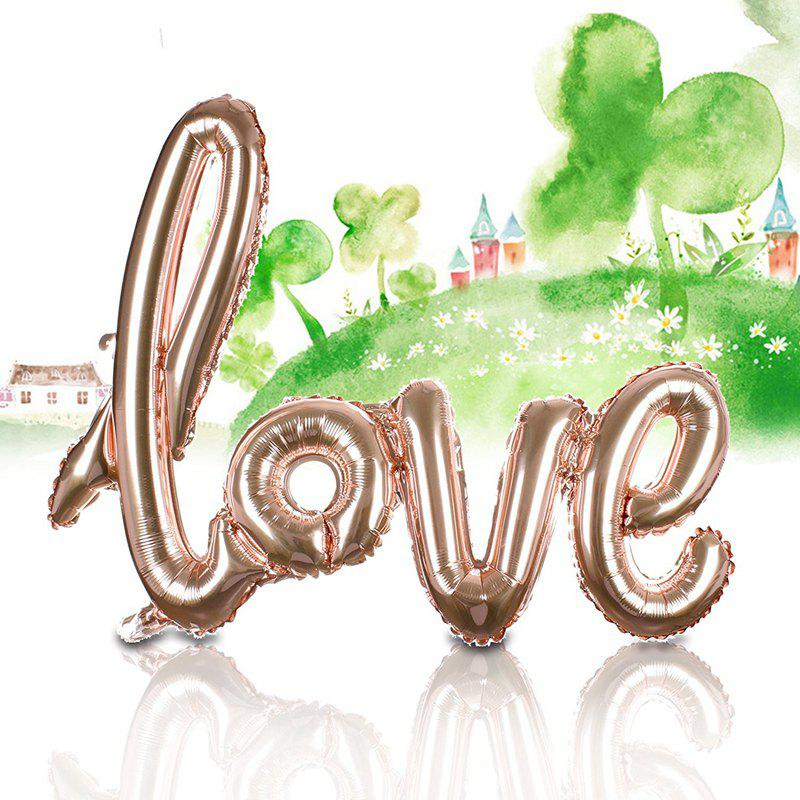 Love Balloon Banner Celebration Balloon Hanging for Wedding Party Decoration - CHAMPAGNE M