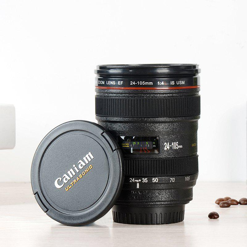 SLR Camera Lens Cup 24-105MM 1:1 Scale Plastic Coffee Tea Cup 400ML Creative Cups And Mugs With Lid 250537101