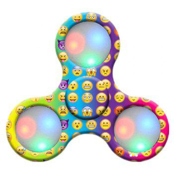 Spinner Finger Toy  with LED Light Stress Reducer Relieve Anxiety - YELLOW YELLOW