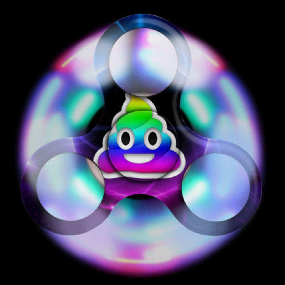 Spinner Finger Toy  with LED Light Stress Reducer Relieve Anxiety - PURPLE