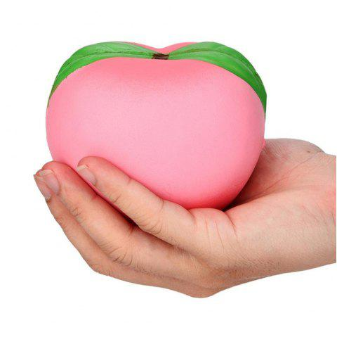 Peach Shape Pull Stretch Squishy Keep Calm Squeeze Stress Relief Toy - PINK