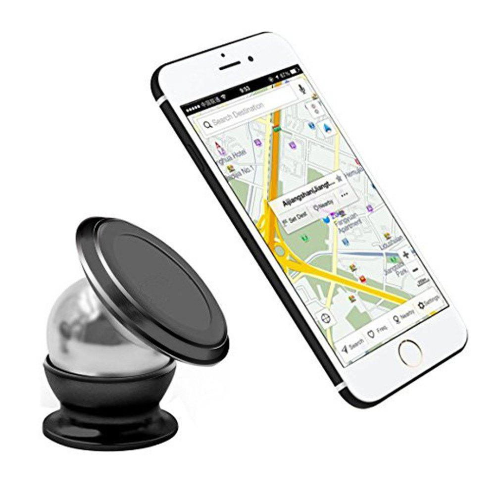 Magnetic Car Mount Phone Holder Adhesive Type - BLACK