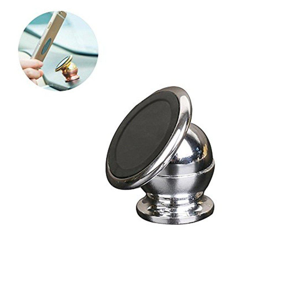 Magnetic Car Mount Phone Holder Adhesive Type - SILVER
