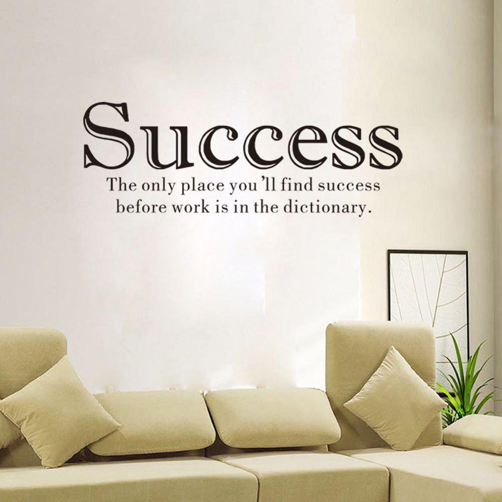 DSU Only Place You Will Find Success Living Room English Sentence Wall Sticker Inspiring Sayings Home Decorative Decal dsu details about happy girls wall sticker vinyl decal home room decor quote