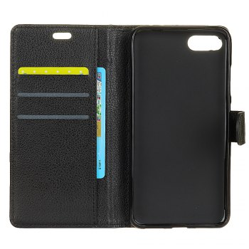 Cover Case for Huawei Nova 2S Pure Color Litchi Leather - BLACK