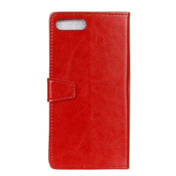 Cover Case for Huawei Nova 2S Pure Color Crystal Texture Leather - RED