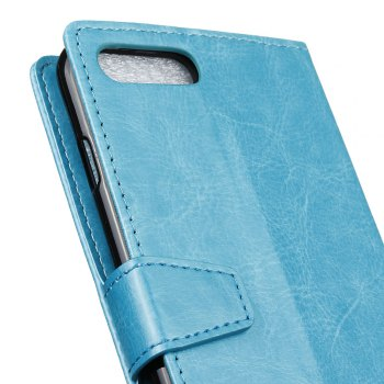 Cover Case for Huawei Nova 2S Pure Color Crystal Texture Leather - BLUE
