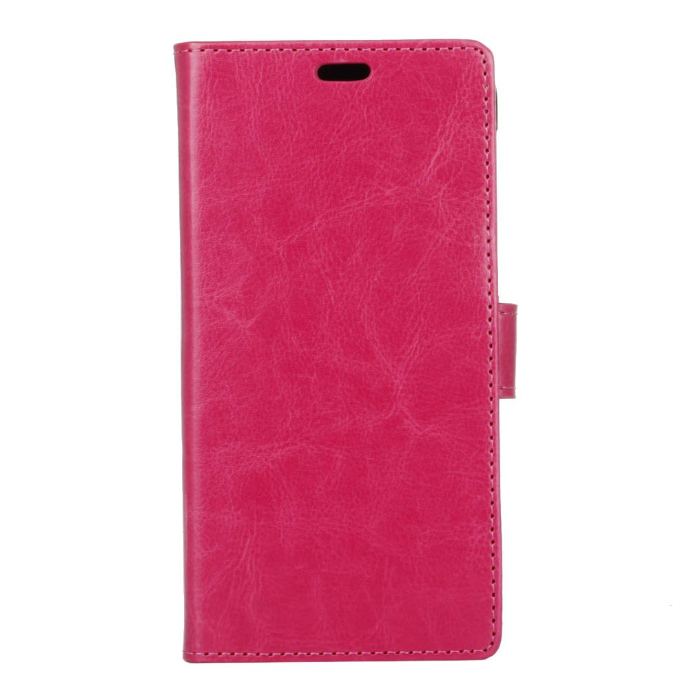 Cover Case for Huawei Nova 2S Pure Color Crystal Texture Leather - ROSE RED