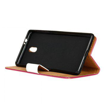 Cover Case for Samsung Galaxy J2 Pro 2018 Painted Tone Leather - ROSE RED