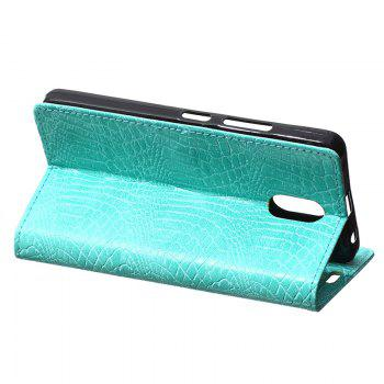Cover Case for Samsung Galaxy J2 Pro 2018 Retro Crocodile Pattern Leather - GREEN