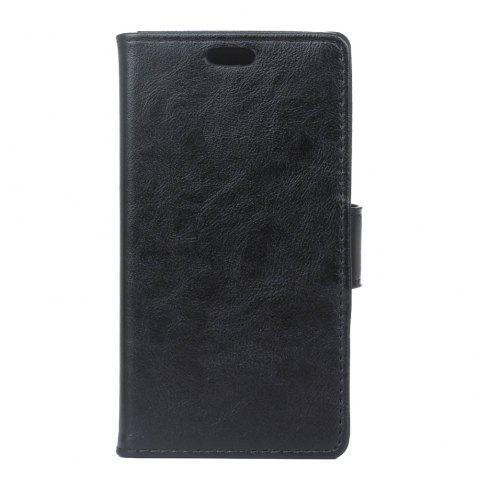 Cover Case for Samsung Galaxy J2 Pro 2018 Vintage Crazy Leather - BLACK