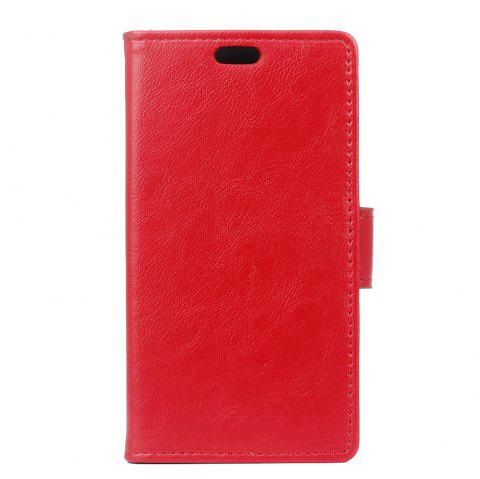 Cover Case for Samsung Galaxy J2 Pro 2018 Vintage Crazy Leather - RED