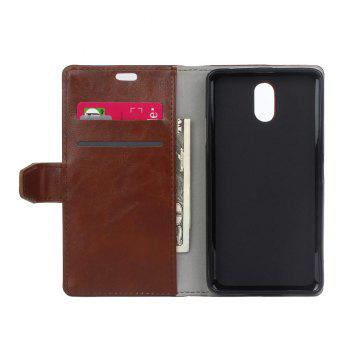 Cover Case for Samsung Galaxy J2 Pro 2018 Vintage Crazy Leather - BROWN