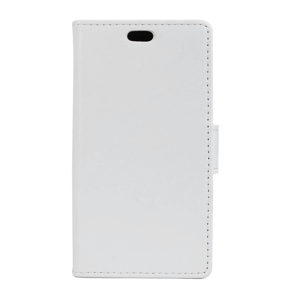 Cover Case for Samsung Galaxy J2 Pro 2018 Vintage Crazy Leather - WHITE